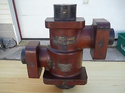 C Industrial Steampunk Wooden Foundry Factory Pattern Mold