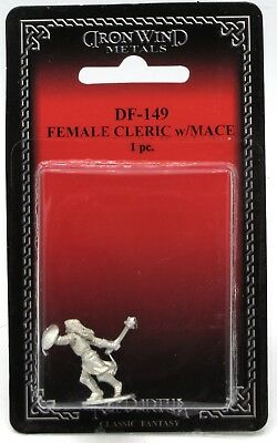 Ral Partha DF-149 Female Cleric with Mace (Player Characters) Warrior-Priest