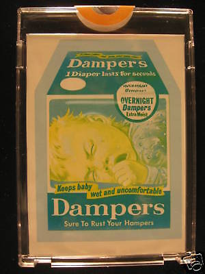 1973 Topps Wacky Packages Original Proof Dampers