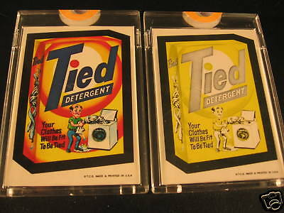 1973 Topps Wacky Packages Series 1 (2) Proof Tied