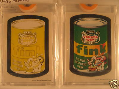 1973 Topps Wacky Packages (2) Series 1 Fink