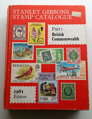 1981 Stanley Gibbons Stamp Catalogue British Commonwealth Part 1 Illustrated