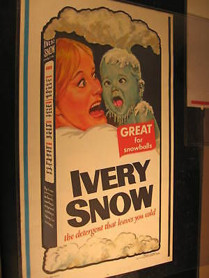 1973 Topps Wacky Packages Oversize NO FOLDS Poster Ivery Snow