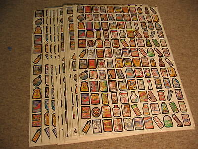 """Lot (10) 1979 Topps Wacky Packages Uncut Finished Sheets 28.5""""x42"""""""