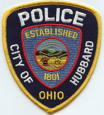 Hubbard Ohio Oh Police Patch
