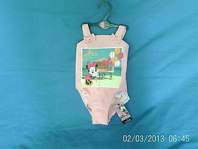 Baby Girls 18-24 Months - Pink Swimming Costume, Disney Minnie Mouse BNWT