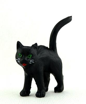 Dolls House Miniature Animal Pet Halloween Accessory Black Cat Standing