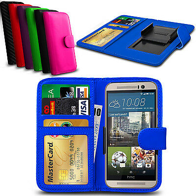 Clip On PU Leather Flip Wallet Book Case Cover For HTC One M9+ Supreme Camera
