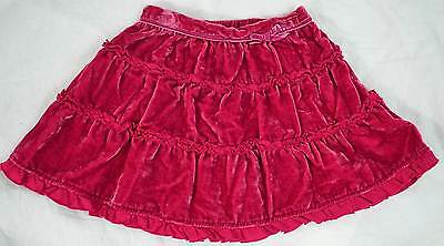 Monsoon girls baby dark pink velvet skirt 12 18 months 2-3 years new winter