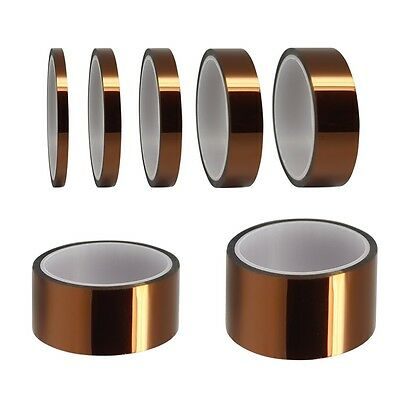0.5/10/20/30/40/50mm 100ft Heat Resistant High Temperature Polyimide Tape Hot