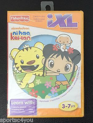 FISHER PRICE iXL LEARNING SYSTEM SOFTWARE NICKELODEON NIHAO KAI-LAN Brand New