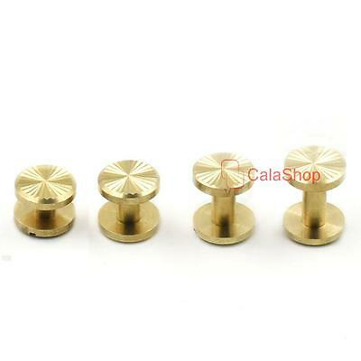 Chicago Binding Screws Studs Nail Rivet Solid Brass 4 6 8 10mm Leather Craft DIY