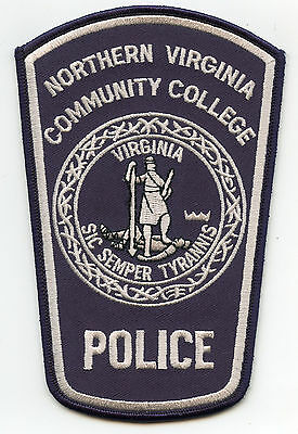 NORTHERN VIRGINIA VA COMMUNITY COLLEGE subdued POLICE PATCH