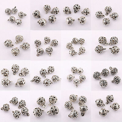 10/20Pcs Tibetan Silver Hollow Out Charm Jewelry Beads Pendant Findings 11*8mm