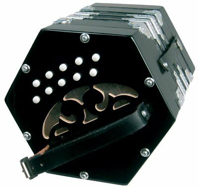 Scarlatti ANGLO CONCERTINA, Black. 20Key Irish/Morris Squeezebox. From Hobgoblin