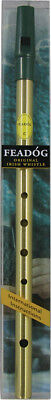 Feadog Brass C WHISTLE PACK! Irish Penny Tinwhistle for Celtic Trad Folk!