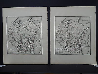Wisconsin 1876 M1#3 Districts, Congressional Senatorial Judicial Assembly 2 Maps
