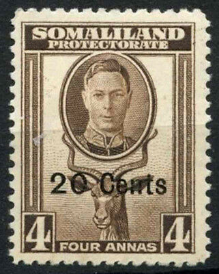Somaliland  1951 SG#128, 20c On 4a KGVI MH #D16933