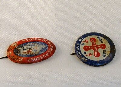 1920 Modern Health Crusader Anti-Spit VTG PIN LOT Campaign Buttons