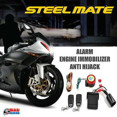 Genuine Steelmate Motorbike Alarm & Immobiliser Anti Theft Security System