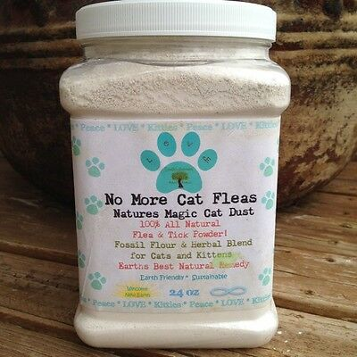 Natural Cat and Kitten Flea Control Treatment Remedy Killer Topical Powder