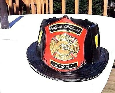 FIRE HELMET PLANTER or FIREFIGHTER CANDY DISH - Unique Fire Department Gift