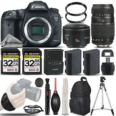 Canon EOS 7D Mark II DSLR Camera + 50mm 1.8 II + 70-300 + WRIST GRIP - 64GB KIT