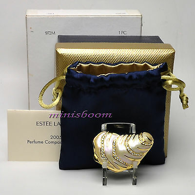 Estee Lauder OPULENT OYSTER Solid Perfume Compact 2005 Collection NIB