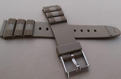 New Mens Timex Water Resistant Sport 18mm Army Green Khaki Watch Band Fits LED