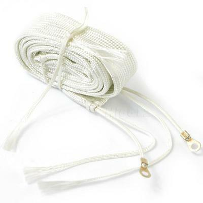 White Exhaust Thermal Warp Tape Stainless Electric Heating Band Ties 1M HIYG