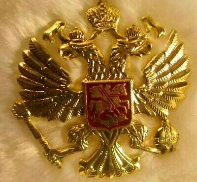 Russian Modern Army Hat  Metal Pin Badge Imperial Eagle #11