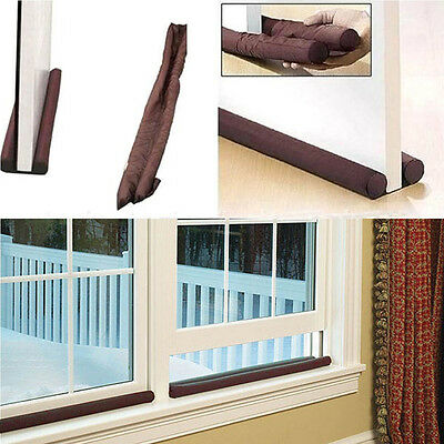 Dual Draft Stopper Door Windonw Raught Excluder Insulation Seal Stop Cold Air