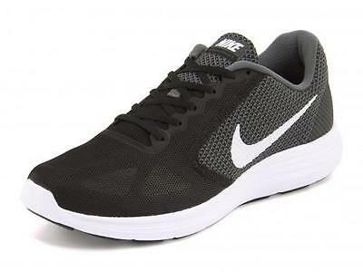 Women's NIKE REVOLUTION 3 Black/Gray Athletic Running Casual Shoes NEW