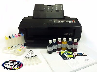 A3 Dye Sub Sublimation Printer Package Epson 1500W + Ink System + Ink + A3 Paper