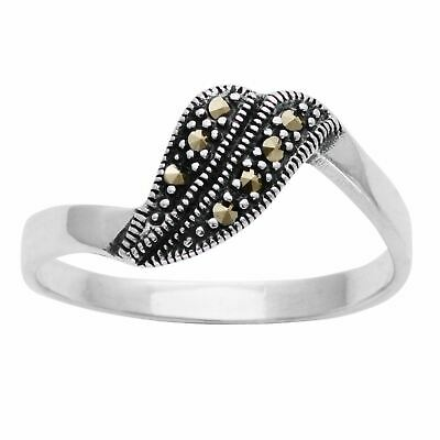 Silverly .925 Sterling Silver Marcasite Art Deco Style Ring