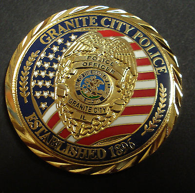 Granite City, Il Police Department Challenge Coin, New Issue