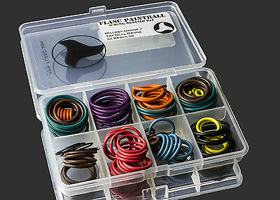 Macdev Drone / Tactical Drone 5x color coded o-ring kit by Flasc Paintball