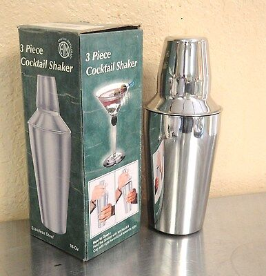 Cocktail Shakers 28 oz Stainless Steel 3-Pc Set