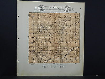 Wisconsin, Walworth County Map, 1930 Troy Township K19#15
