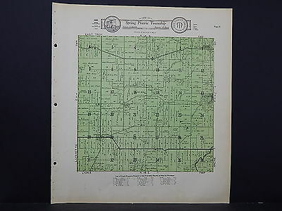Wisconsin, Walworth County Map 1930 Spring Prairie Township L21#39