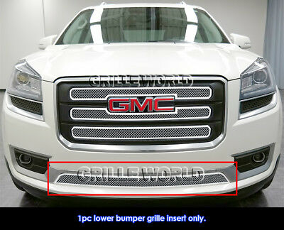 Fits 2013-2016 GMC Acadia Stainless Steel Bumper Mesh Grille Insert