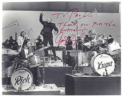 Gene KRUPA (Jazz): Signed Photo with Buddy Rich and Lionel Hampton