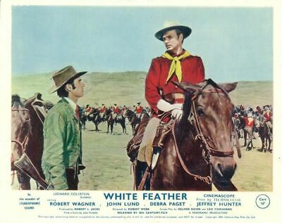 White Feather Original Lobby Card Robert Wagner  John Lund 1955