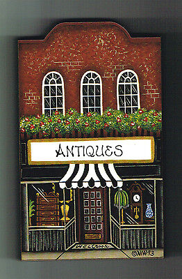 Brandywine Collectible Downtown Houses & Shops: ANTIQUES - Wooden Shelf Sitter