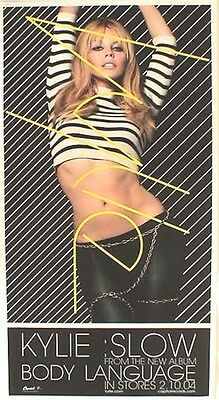 "Kylie Minogue ""slow From Body Language In Stores 2-2004"" U.s. Poster + Postcard"