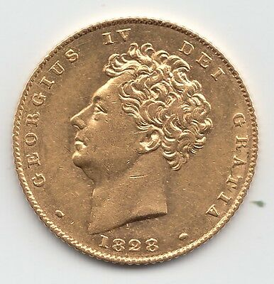 1828 George IV Gold Half Sovereign