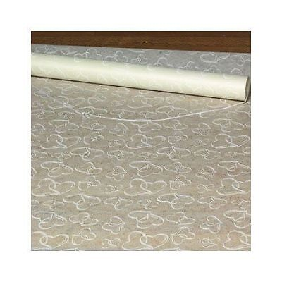 Polyester White Two Hearts Wedding Aisle Runner Ceremony