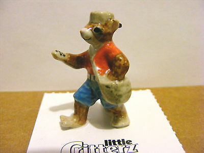 Little Critterz Johnny Appleseed The Chipmunk Miniature Animal Figurine Wildlife