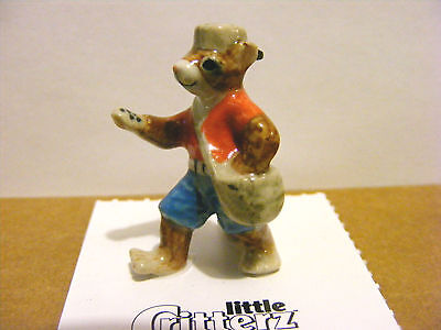 Little Critterz Retired Johnny Appleseed The Chipmunk Miniature Animal Figurine