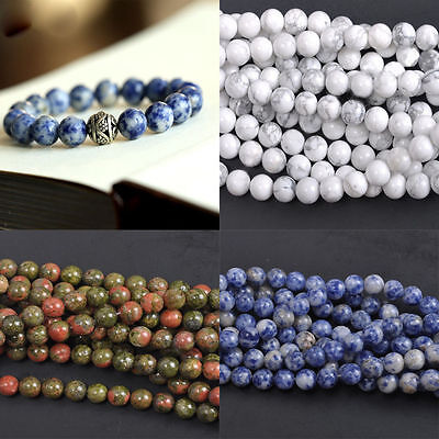 Lots Semi Precious Crystal Round Gemstone Beads Choose Your Stone 4/6/8/10/12mm